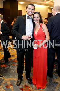 Bryan Petrich, Alexandra Gangitano. Photo by Tony Powell. 2018 Spanish Catholic Center Gala. Marriott Marquis. October 27, 2018