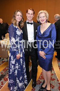 Megan Murray,  Brendan Saxon, Carol Bates. Photo by Tony Powell. 2018 Spanish Catholic Center Gala. Marriott Marquis. October 27, 2018