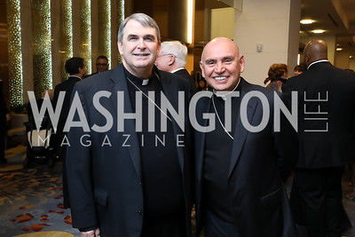 Bishop Michael Fisher and Bishop Mario Dorsonville. Photo by Tony Powell. 2018 Spanish Catholic Center Gala. Marriott Marquis. October 27, 2018