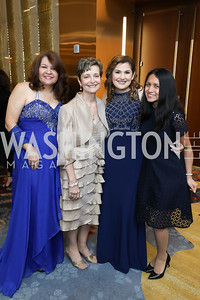 Yolanda Torres, Ana Delgado, Sary Flores, Karina Flores. Photo by Tony Powell. 2018 Spanish Catholic Center Gala. Marriott Marquis. October 27, 2018