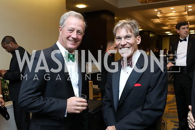 Deacon Jim Nalls, Dr. Tristram Kruger. Photo by Tony Powell. 2018 Spanish Catholic Center Gala. Marriott Marquis. October 27, 2018