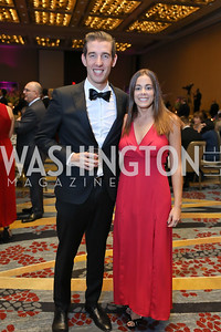 Juan Pablo Segura, Ines Reig. Photo by Tony Powell. 2018 Spanish Catholic Center Gala. Marriott Marquis. October 27, 2018