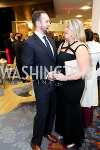 Max and Kim Stoycos. Photo by Tony Powell. 2018 Spanish Catholic Center Gala. Marriott Marquis. October 27, 2018