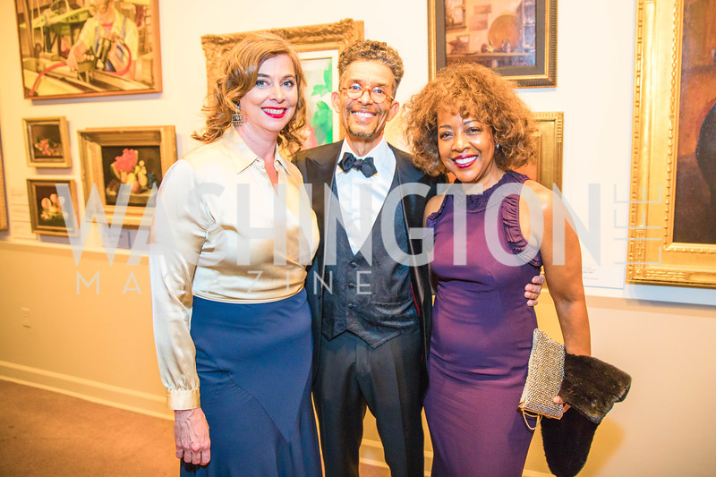 Julia Keller, Gene Adams, Gina Adams. Photo by Alfredo Flores. 2018 Spring Gala. National Museum of Women in the Arts. April 20, 2018.