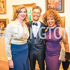 Julia Keller, Gene Adams, Gina Adams. Photo by Alfredo Flores. 2018 Spring Gala. National Museum of Women in the Arts. April 20, 2018.