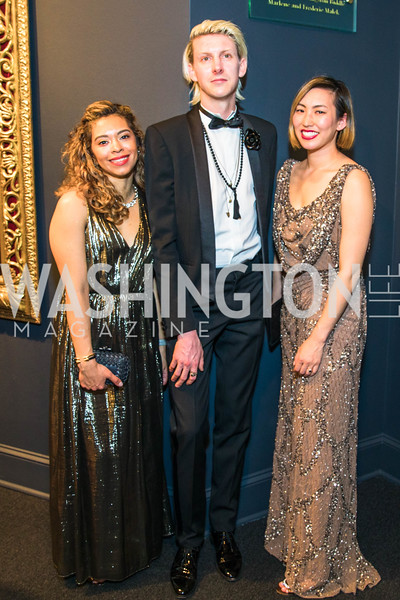 Veronica Lopez, Jacob Lahr, Michelle Keber, Photo by Alfredo Flores. 2018 Spring Gala. National Museum of Women in the Arts. April 20, 2018.