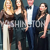Susan Nussbaum, Mahsa Tehrani, Mark Kimmel, Shay Suhanovsky. Photo by Alfredo Flores. 2018 Spring Gala. National Museum of Women in the Arts. April 20, 2018.