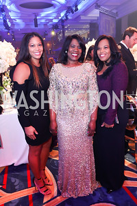 Mastercard VP Nicole Reynolds, Dr. Glenda Glover, Dr. Lesia Young. Photo by Tony Powell. 2018 Thurgood Marshall College Fund Gala. Wardman Park. October 29, 2018