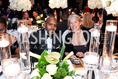 George Spencer, Leigh Merinoff. Photo by Tony Powell. 2018 Thurgood Marshall College Fund Gala. Wardman Park. October 29, 2018