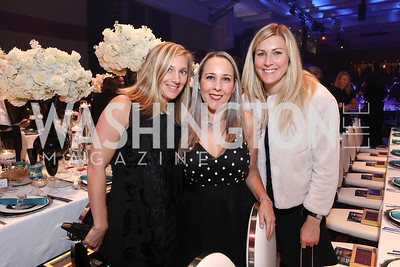 Heather Cross, Rosie Martin, Megan Farrell. Photo by Tony Powell. 2018 Thurgood Marshall College Fund Gala. Wardman Park. October 29, 2018