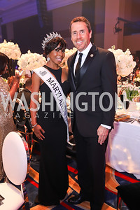 Miss Woman United States from Maryland Erin Rampersaud, Rep. Mark Walker. Photo by Tony Powell. 2018 Thurgood Marshall College Fund Gala. Wardman Park. October 29, 2018