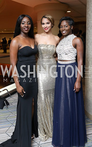 Victoria Smith, Taylor LeDuff, Alexandria Jones. Photo by Tony Powell. 2018 Thurgood Marshall College Fund Gala. Wardman Park. October 29, 2018