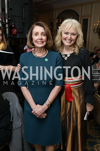 Speaker Nancy Pelosi, Katrina Lantos Swett. Photo by Tony Powell. 2018 Tom Lantos Human Rights Prize Award Ceremony. Willard Hotel. December 5, 2018