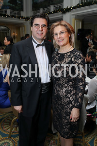 Bulgaria Amb. Tihomir Stoytchev and Luba Stoytcheva. Photo by Tony Powell. 2018 Tom Lantos Human Rights Prize Award Ceremony. Willard Hotel. December 5, 2018