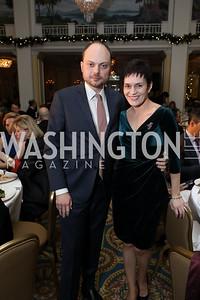 Vladimir and Evgenia Kara-Murza. Photo by Tony Powell. 2018 Tom Lantos Human Rights Prize Award Ceremony. Willard Hotel. December 5, 2018