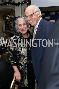 Betsi and Rep. Christopher Shays. Photo by Tony Powell. 2018 Tom Lantos Human Rights Prize Award Ceremony. Willard Hotel. December 5, 2018