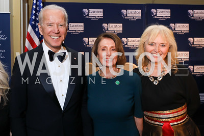 Vice President Joe Biden, Speaker Nancy Pelosi, Katrina Lantos Swett. Photo by Tony Powell. 2018 Tom Lantos Human Rights Prize Award Ceremony. Willard Hotel. December 5, 2018