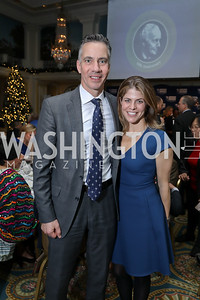 Jim Sciutto and Gloria Rivera. Photo by Tony Powell. 2018 Tom Lantos Human Rights Prize Award Ceremony. Willard Hotel. December 5, 2018