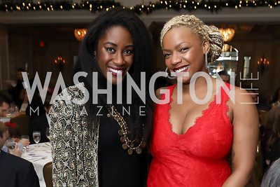 Karen Attiah, Kendra Woolridge. Photo by Tony Powell. 2018 Tom Lantos Human Rights Prize Award Ceremony. Willard Hotel. December 5, 2018