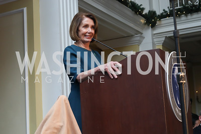 Speaker Nancy Pelosi. Photo by Tony Powell. 2018 Tom Lantos Human Rights Prize Award Ceremony. Willard Hotel. December 5, 2018