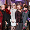 Dianne Kay, Liz Dubin, Jan Smith, Marcia Carlucci, Marlene Malek, Maggie Shannon. Photo by Tony Powell. 2018 Vital Voices Gala. Kennedy Center. April 4, 2018