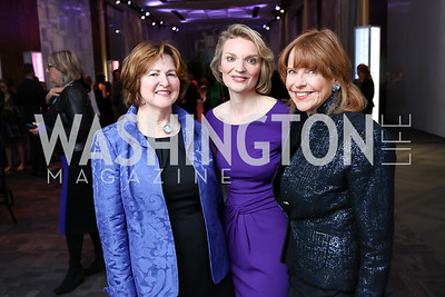 Theresa Loar, Alyce Nelson, Susan Davis. Photo by Tony Powell. 2018 Vital Voices Gala. Kennedy Center. April 4, 2018