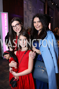 Olivia Rosen, Isabel Rosen, Sagra Maceira de Rosen. Photo by Tony Powell. 2018 Vital Voices Gala. Kennedy Center. April 4, 2018