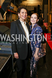 Donna Langley, Actress Zoey Deutch. Photo by Tony Powell. 2018 Vital Voices Gala. Kennedy Center. April 4, 2018