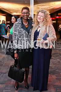 Tara Charles, Melanie Minzes. Photo by Tony Powell. 2018 Vital Voices Gala. Kennedy Center. April 4, 2018
