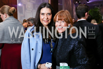 Sagra Maceira de Rosen, Susan Davis. Photo by Tony Powell. 2018 Vital Voices Gala. Kennedy Center. April 4, 2018
