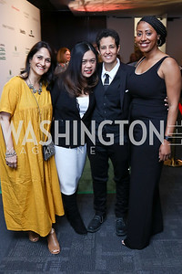 Honorees Kiran Bir Sethi, Boom Mosby, Lina Khalifeh, Jamira Burley. Photo by Tony Powell. 2018 Vital Voices Gala. Kennedy Center. April 4, 2018
