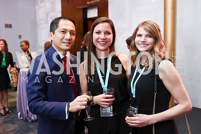 Peter Liu, Sophia Greve, Sarah Wentz. Photo by Tony Powell. 2018 Vital Voices Gala. Kennedy Center. April 4, 2018