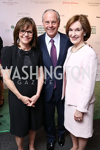Sally Field, Mack McLarty, Donna McLarty. Photo by Tony Powell. 2018 Vital Voices Gala. Kennedy Center. April 4, 2018
