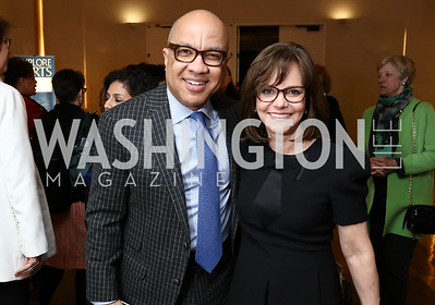 Darren Walker, Sally Field. Photo by Tony Powell. 2018 Vital Voices Gala. Kennedy Center. April 4, 2018