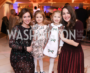 Heather and MacKenzie Zimmerman, Sydney and Sara Lange. Photo by Tony Powell. 2018 WB Nutcracker Tea. NMWA. December 9, 2018