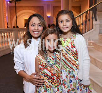 Anabel, Celia and Anya Genetski. Photo by Tony Powell. 2018 WB Nutcracker Tea. NMWA. December 9, 2018
