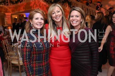 Catherine Zimmermann, Jean-Marie Fernandez, Jen Kavounas. Photo by Tony Powell. 2018 WB Nutcracker Tea. NMWA. December 9, 2018