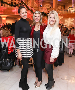 Jasmine Simms, Mikel Blair, Kate Cahill. Photo by Tony Powell. 2018 WB Nutcracker Tea. NMWA. December 9, 2018