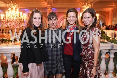 Jenny Gaynor, Elizabeth Carmen, Elizabeth Engel, Susan Burke. Photo by Tony Powell. 2018 WB Nutcracker Tea. NMWA. December 9, 2018