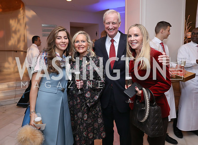 Yasmine Askalani, Deborah Sigmund, Jack Evans, Cindy Jones. Photo by Tony Powell. 2018 WB Nutcracker Tea. NMWA. December 9, 2018