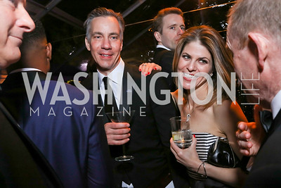 Jim Sciutto and Gloria Riviera. Photo by Tony Powell. 2018 WHC NBC News MSNBC After Party. OAS. April 28, 2018