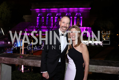 Noah Oppenheim and Nicole Wallace. Photo by Tony Powell. 2018 WHC NBC News MSNBC After Party. OAS. April 28, 2018