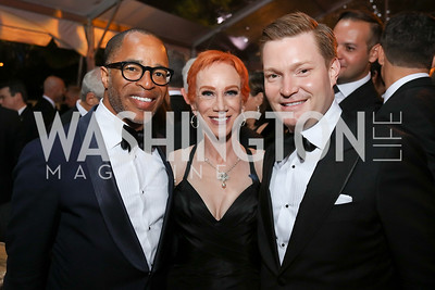 Jonathan Capehart, Kathy Griffin, Nick Schmit. Photo by Tony Powell. 2018 WHC NBC News MSNBC After Party. OAS. April 28, 2018