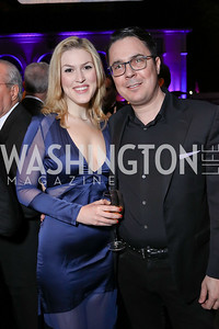 New York Magazine's Olivia Nuzzi, CNN's Ryan Lizza. Photo by Tony Powell. 2018 WHC NBC News MSNBC After Party. OAS. April 28, 2018