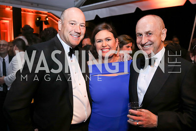 Gary Cohn, Sarah Huckabee Sanders, Chris Liddell. Photo by Tony Powell. 2018 WHC NBC News MSNBC After Party. OAS. April 28, 2018