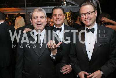 Paul Kane, Brad Dayspring, Michael Steel. Photo by Tony Powell. 2018 WHC NBC News MSNBC After Party. OAS. April 28, 2018
