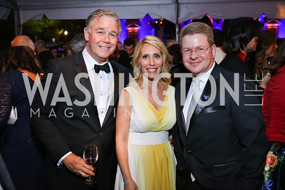Spencer Garrett, Dana Bash, Sam Feist. Photo by Tony Powell. 2018 WHC NBC News MSNBC After Party. OAS. April 28, 2018