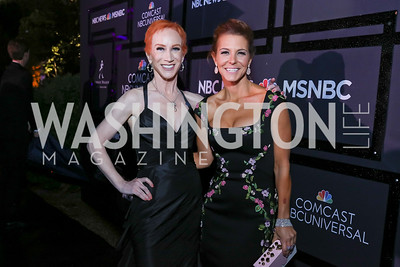 Kathy Griffin, Stephanie Ruhle. Photo by Tony Powell. 2018 WHC NBC News MSNBC After Party. OAS. April 28, 2018