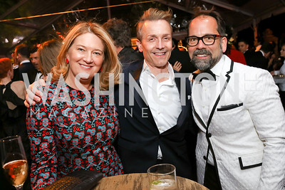 Camille Johnston, Todd Andochick, Philip Dufour. Photo by Tony Powell. 2018 WHC NBC News MSNBC After Party. OAS. April 28, 2018