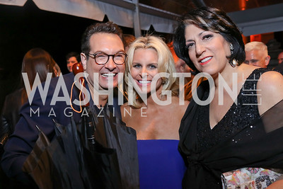 Marc Adelman, Adrienne Elrod, Tammy Haddad. Photo by Tony Powell. 2018 WHC NBC News MSNBC After Party. OAS. April 28, 2018